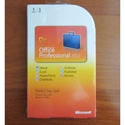 Microsoft Office Professional 2010 key card