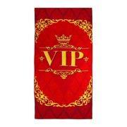 Подарочное сувенирное полотенце махровое Вип Vip 70х140 см 46977