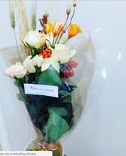 Доставка цветов, создание авторских букетов и композиций, услуги флорист
