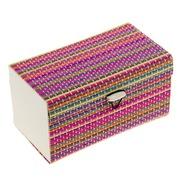 Органайзер шкатулка соломка для драгоценностей и мелочей цветная 47024