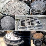 Люки чугунные канализационные Тип С 770*640*85  нагрузка 12.5 тн