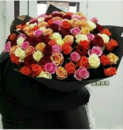 Акция на шикарные розы в Алматы