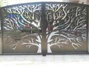 Ворота из художественной резки металла