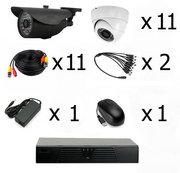 Готовый комплект видеонаблюдения на 11 камер (Камеры высокого разрешен