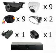 Готовый комплект видеонаблюдения на 9 камер