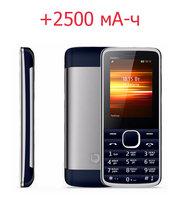 Продам кнопочный телефон с мощным аккумулятором на 2500 мА-ч,