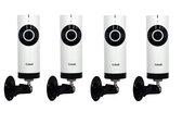 Продам охранный комплект из 4х беспроводных IP камер с углом обзора 18
