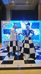 Шахматная Королева и Ладья на встречу гостей от Tesla art lab