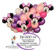 Гелиевый букет Микки Маусов из воздушных шаров