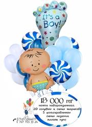 Гелиевые воздушные шарики,  доставка шаров на выписку для мальчика