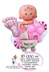 воздушных шаров на выписку из роддома для девочки