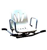 Стульчик гигиенический для ванной со спинкой,  вращающийся  FS793S