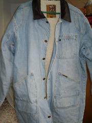 Зимняя куртка джинсовая