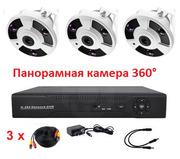 Продам панорамный комплект видеонаблюдения на 3 камеры