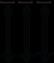 Болт фундаментный прямой с шайбой и двумя гайками