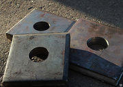 Квадратные анкерные пластины,  шайба с отверстием