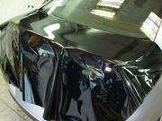 Плёнка под панораму глянец чёрная,  специально для крыши авто