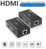 Продам удлинитель (передатчик) HDMI по витой паре на 60м,  Модель HE60C